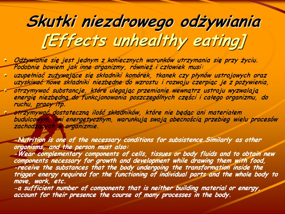 Skutki niezdrowego odżywiania [Effects unhealthy eating]